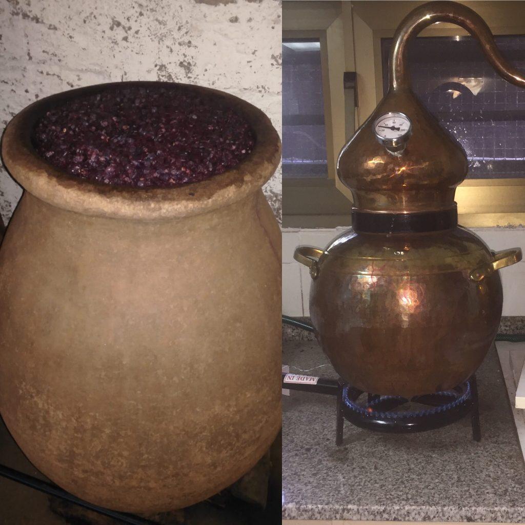 Destilación del Hollejo de la Uva
